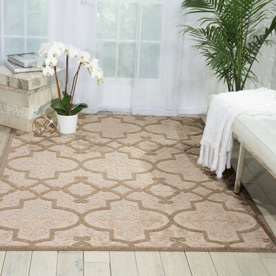Seaside Cream/Beige Indoor/Outdoor Area Rug Rug Size: 53 x 75