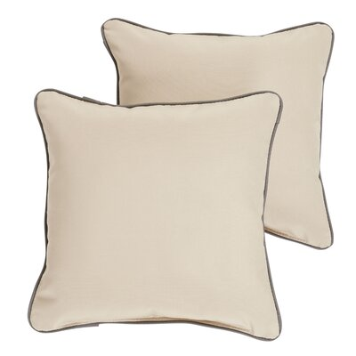 Rosewood Indoor/ Outdoor Sunbrella Throw Pillow Size: 22 H x 22 W x 6 D