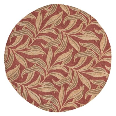 Demirhan Red Leaf Outdoor Rug Rug Size: 5 x 76