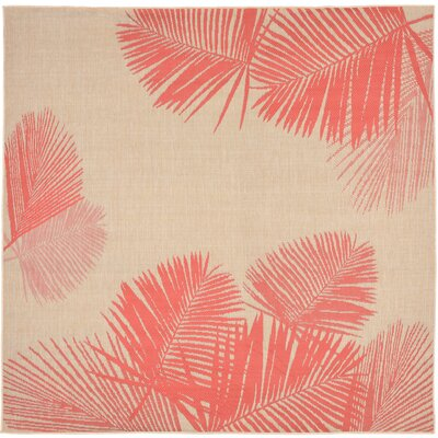 Cecile Natural Indoor/Outdoor Area Rug Rug Size: 111 x 211