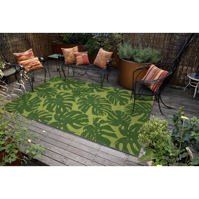 Rachael Fronds Hand-Tufted Green Indoor/Outdoor Area Rug