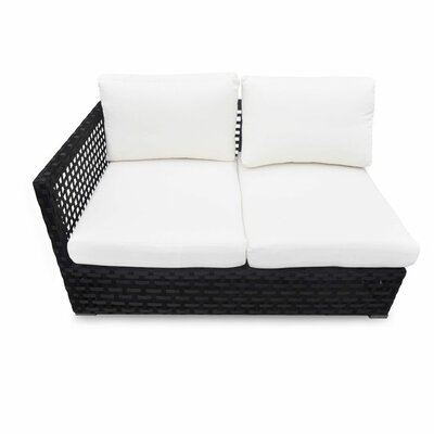 Marianna Left Arm Facing Loveseat with Cushion Fabric: Black