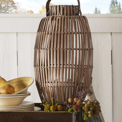 Wicker Table Lantern Size: Large