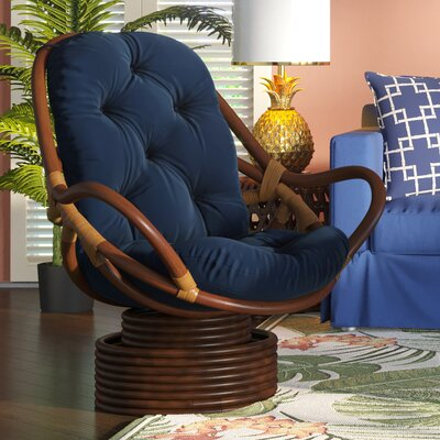 Jimena Papasan Chair Upholstery: Navy