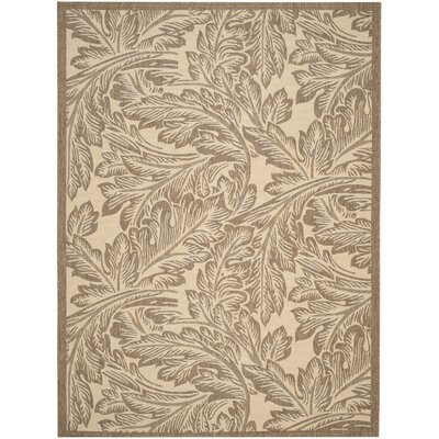 Amaryllis Natural/Brown Outdoor Area Rug Rug Size: 4 x 57