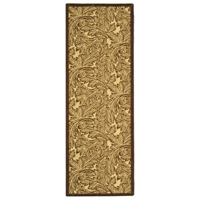 Amaryllis Natural/Brown Outdoor Area Rug Rug Size: Runner 24 x 67