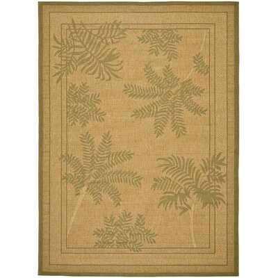 Wickford Dark Natural Outdoor Rug Rug Size: 53 x 77