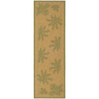 Wickford Dark Natural Outdoor/Indoors Rug Rug Size: Runner 22 x 911