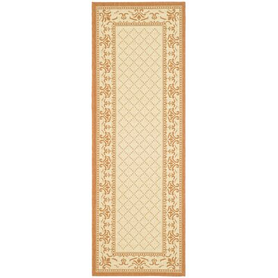 Amaryllis Classic Border Outdoor Rug Rug Size: Rectangle 27 x 5