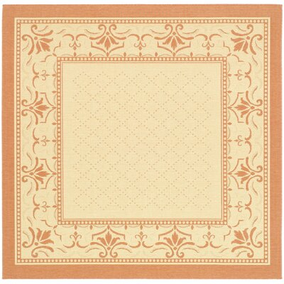 Amaryllis Classic Border Outdoor Rug Rug Size: Square 710