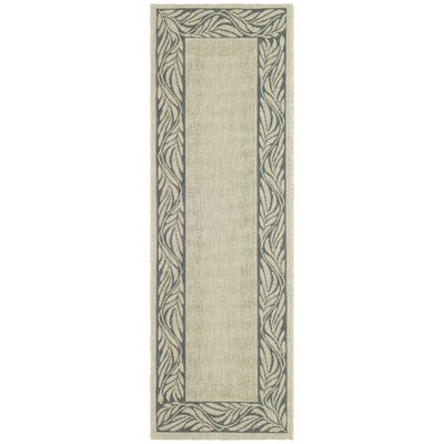 Amaryllis Ivory/Grey Outdoor Area Rug Rug Size: Runner 24 x 67