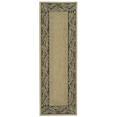 Amaryllis Ivory/Grey Outdoor Area Rug Rug Size: Rectangle 27 x 5