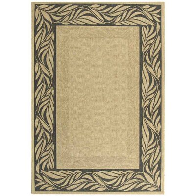 Amaryllis Ivory/Grey Outdoor Area Rug Rug Size: Rectangle 2 x 37