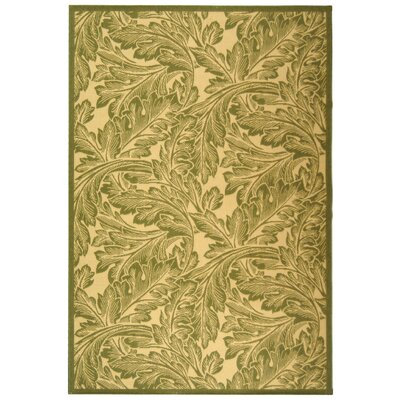 Amaryllis Natural/Olive Outdoor Rug Rug Size: Rectangle 4 x 57