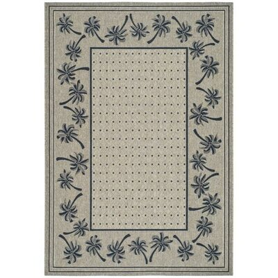 Amaryllis Coffee/Black Outdoor Rug Rug Size: Rectangle 53 x 77