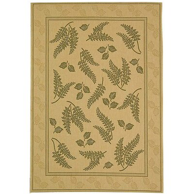 Amaryllis Ivory/Olive Outdoor Area Rug Rug Size: Rectangle 4 x 57