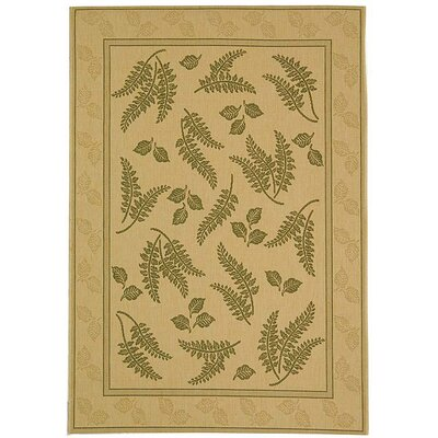 Amaryllis Ivory/Olive Outdoor Area Rug Rug Size: Rectangle 53 x 77