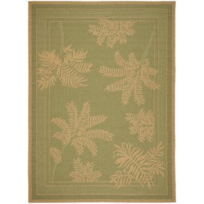 Wickford Green Outdoor Rug Rug Size: 67 x 96