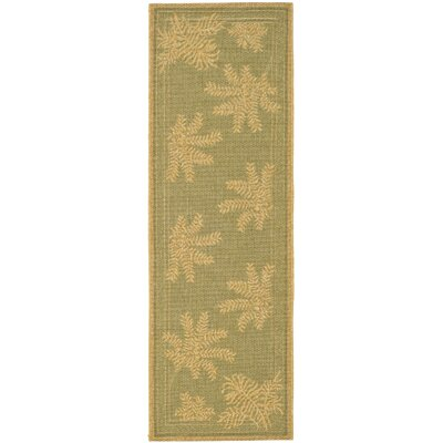 Wickford Green Outdoor Rug Rug Size: Runner 22 x 911
