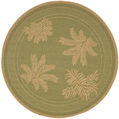 Wickford Green Outdoor Rug Rug Size: Round 67