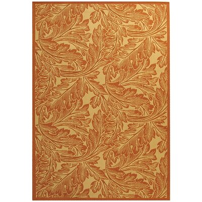 Amaryllis Natural/Terracotta Outdoor Area Rug Rug Size: 67 x 96