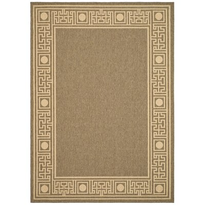 Amaryllis Coffee/Sand Outdoor Rug Rug Size: Rectangle 4 x 57