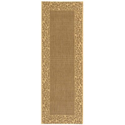 Amaryllis Leaves Border Outdoor Rug Rug Size: Rectangle 27 x 5