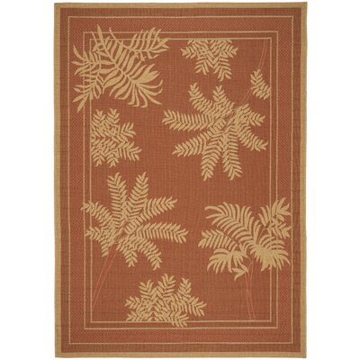Amaryllis Light Brick Outdoor Rug Rug Size: Rectangle 8 x 112