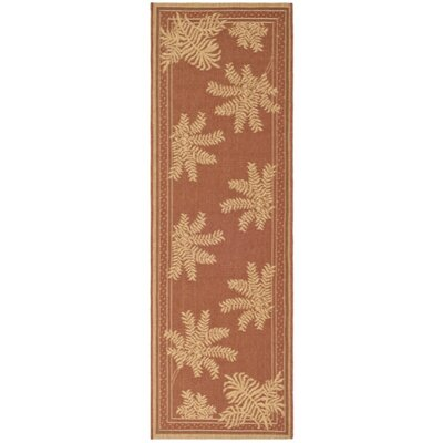 Amaryllis Light Brick Outdoor Rug Rug Size: Runner 22 x 911