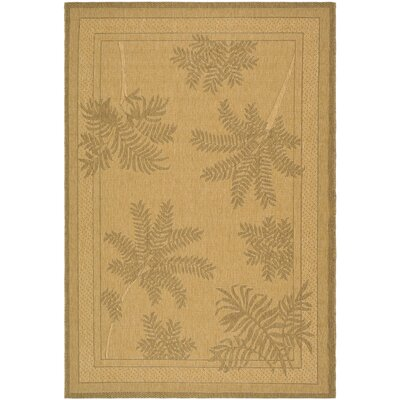 Amaryllis Natural/Gold Outdoor Rug Rug Size: Rectangle 53 x 77