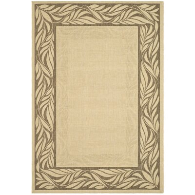 Amaryllis Brown / Tan Outdoor Area Rug Rug Size: Rectangle 6'7