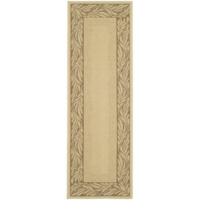 Amaryllis Brown / Tan Outdoor Area Rug Rug Size: Rectangle 27 x 5