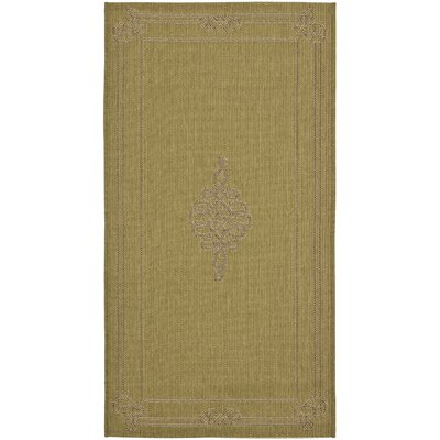 Amaryllis Green Geometric Outdoor Area Rug Rug Size: Rectangle 27 x 5