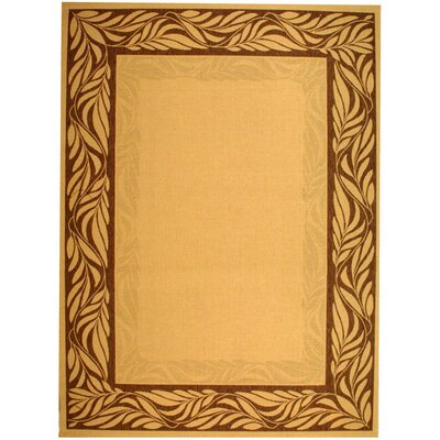 Amaryllis Ivory Outdoor Area Rug Rug Size: Rectangle 2 x 37