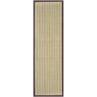 Greene Beige/Purple Area Rug Rug Size: Runner 26 x 8