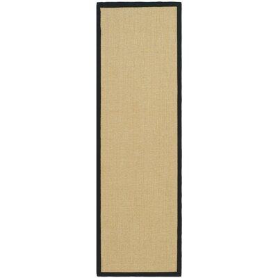 Greene Contemporary Sisal Brown Area Rug Rug Size: Runner 26 x 8