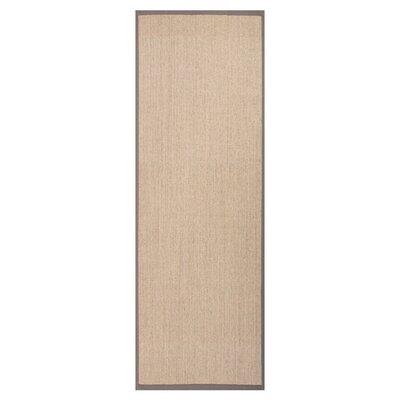 Mosqueda Plus Hand-Woven Beige/Brown Area Rug Rug Size: Runner 26 x 9