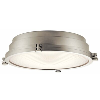 Dov 1-Light LED Flush Mount Color: Brushed Nickel, Size: 5 H x 18 W x 18 D