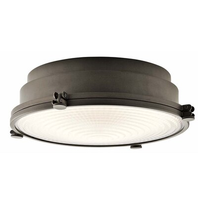 Dov 1-Light LED Flush Mount Color: Olde Bronze, Size: 4.5 H x 13.25 W x 13.25 D