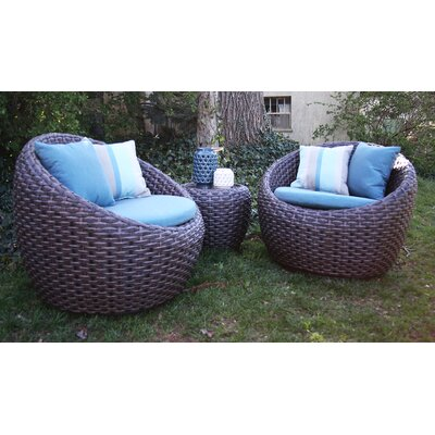 Corona 3 Piece Deep Seating Group with Cushion