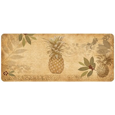 Jaidyn Pineapple Coast Kitchen Mat Rug Size: Runner 110 x 44