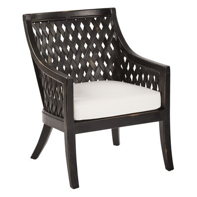 Bertrand Lounge Chair Finish: Antique Black