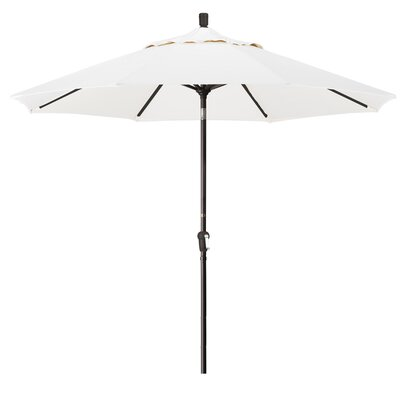 9 Market Umbrella Fabric: White, Frame Finish: Champagne