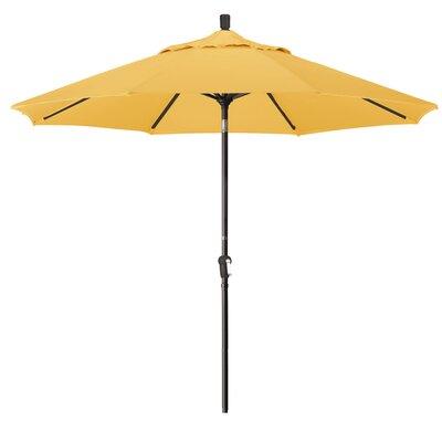 Priscilla 9 Market Umbrella Frame Finish: Champagne, Fabric: Lemon