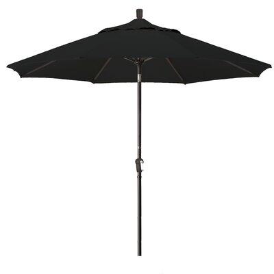 9 Market Umbrella Frame Finish: Champagne, Fabric: Black