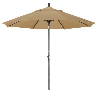 Priscilla 9 Market Umbrella Frame Finish: Bronze, Fabric: Champagne