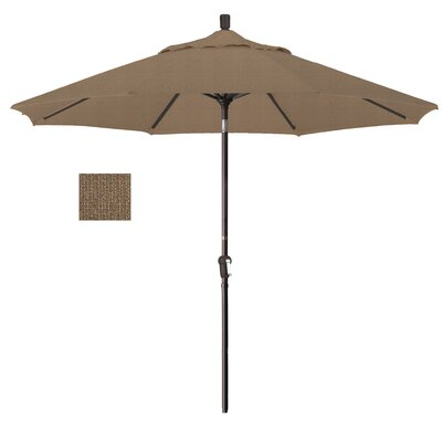 Priscilla 9 Market Umbrella Frame Finish: Champagne, Fabric: Woven Sesame