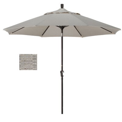 Priscilla 9 Market Umbrella Frame Finish: Bronze, Fabric: Woven Granite