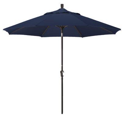 9 Market Umbrella Frame Finish: Bronze, Fabric: Navy Blue
