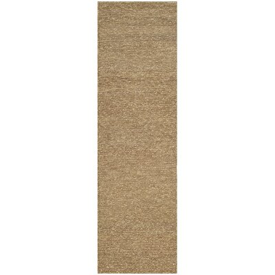 Bristol Fiber Hand-Woven Brown Area Rug Rug Size: Runner 23 x 10